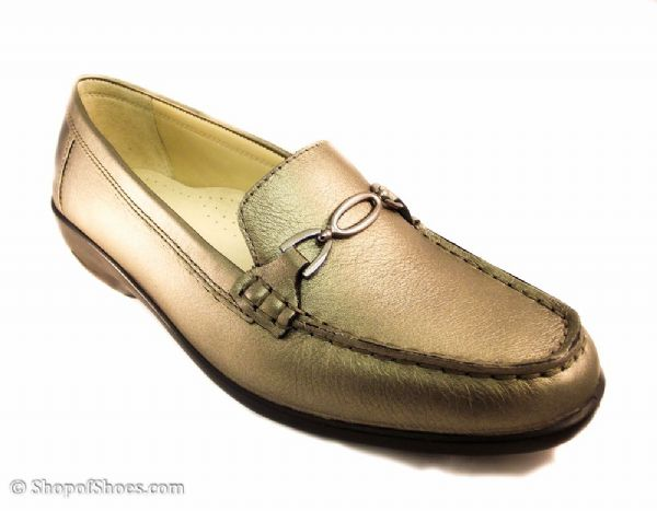 Ellen pewter EE leather Padders moccasin